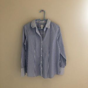Chicos Stripped Button Down